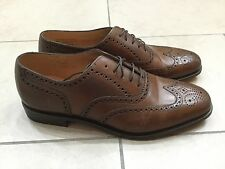 LOAKE mens brown tobacco leather brogues shoes and leather sole UK 10  EU 44 NEW