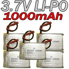 LOT 5 ACCU BATTERIE LI-PO DS 3.7V 1000Mah PCM 120103 LIPO BATTERY + CONNECTEUR