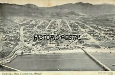ENSENADA BAJA CALIFORNIA MEXICO~AERIAL VIEW 1951 OVERSIZED POSTCARD