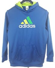 ADIDAS Womens Blue Pullover Hoodie XL Polyester