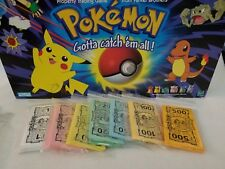 1998 Pokemon Monopoly Collector's Edition Paper Poke Money Set Replacement
