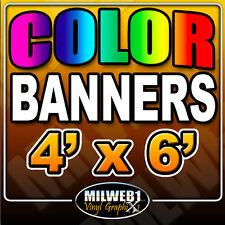4'x 6' Custom Vinyl Banner, 13oz FULL COLOR (48