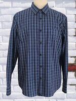 UNTUCKit XL Blue Glen Plaid Wrinkle Free Long Sleeve Button Front Cotton Shirt