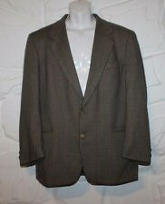 Brown Checkered Wool BOYS OF EUROPE Hip Length Tailored Fit Jacket Blazer Sz 52