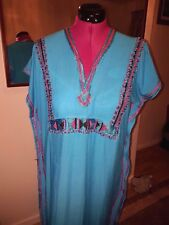 Moroccan Kaftan   Blue Fruit BEACH House Summer Dress