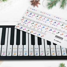 Pro 61 Key Keyboard Piano Music Key Stickers Note Labels Transparent & Removable