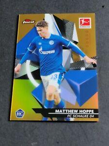 Matthew Hoppe 2020-21 Topps Finest Bundesliga Gold Refractor Rc 47/50 Rookie