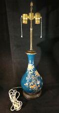 Large Antique Japanese Cloisonne Vase/Lamp Conversion. Floral Designs, 25� t.