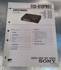 SONY TCD-D10 pro II Handbuch Serviceanleitung englisch