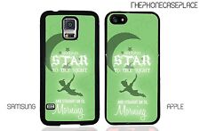 Disney Peter Pan Second Star on the Right Green iPhone or Samsung Phone Case