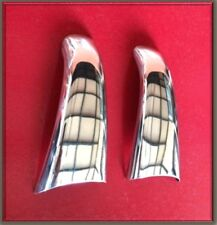 2x Mirror Stainless Steel Door Handle Covers decoration for Scania R trucks