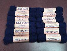 Bernat Venetian Vintage Yarn - Lot of 12 - Color #8464 Ming Blue/Dye Lot AL
