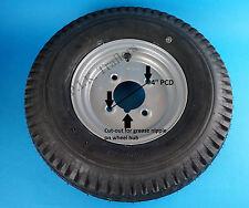 "8"" Trailer Wheel & Tyre 400 x 8 4-Ply on 4"" Inch PCD Wheel - SILVER"