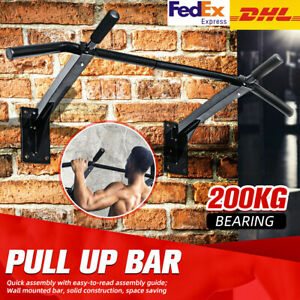 Heavy Duty Pull Up Bar Chin Up Sit-Up Strength Body Workout Exercise Bar UK