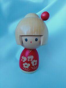 Japanese Wooden Kokeshi Doll