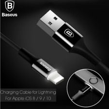 Baseus 2A Fast Charger LED USB Charger Data Cable For Iphone X 8 7 6 5S SE Plus