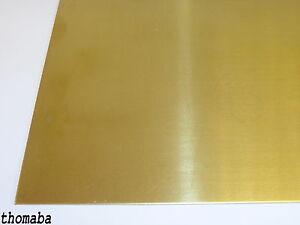 Messingblech 5mm Messingplatte 2.0321 CuZn37 Ms 63 Zuschnitt Feinblech wählbar