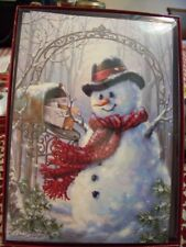 Leanin Tree Christmas Card Set Adorable Snowman 10 Pk New !
