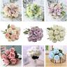 12 Head Fake Rose Artificial Silk Flower Bridal Wedding Party Bouquet Home Decor