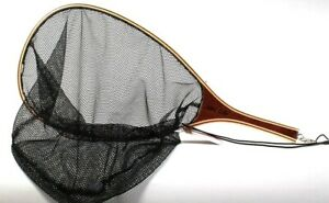 """1 Count Eagle Claw Catch & Release Classic Bamboo Trout Fishing Net 15"""" x11"""" x 9"""