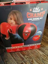 Kids Punching Ball Bag Boxing Punch Exercise Sports Set With Gloves Adjustable
