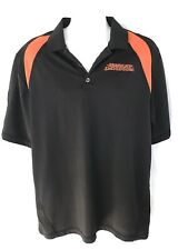 Harley Davidson polo shirt Men's XL classic black and orange