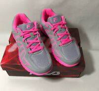 Fila Escalight Kids Sneaker Gray And Pink Size 4