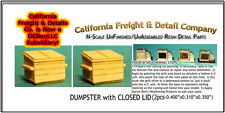 Dumpster with Closed Lid (2pc) N/1:160-Scale Craftsman CAL Freight & Details Co