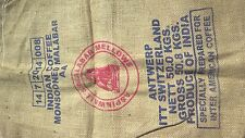 lot 3 sac en toile de jute café INDIA MALABAR design deco jute bag