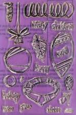 Stampendous Perfectly Clear Stamps - Retro Ornament Set - SSC053 - Christmas