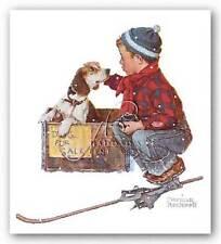 Art Print A Boy Meets His Dog Norman Rockwell