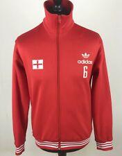 Adidas Originals Track Jacket Sz M England Flag Vintage Style Football Soccer