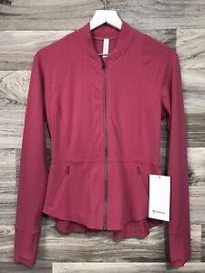 Lululemon The Ease Jacket * Nulu Size 8 Vintage Rose VNTR  Women's 01485