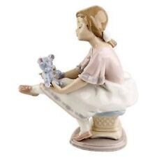 Vintage Lladro Best Friend Figurine #7620 Girl With Blue Teddybear Flawless