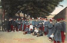 FRANCE PRISONERS OF WAR GERMANY WW1 MILITARY FELDPOST POSTCARD 1915 (273)