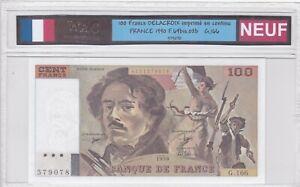 BILLET DE 100 FRANCS DELACROIX 1990 NEUF!!!