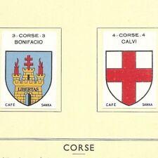 La Corse - Bastia Calvi - Blason France  Sanka - Planche Gravure (vers 1930/36)