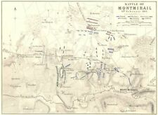 BATTLE OF MONTMIRAIL. 11th February 1814. France. Napoleonic Wars 1848 old map