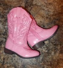 Girls Size 4 Cherokee Brand Pink Cowgirl Boots NEW