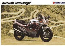 1991 SUZUKI GSX750F 4 page Motorcycle Brochure NCS
