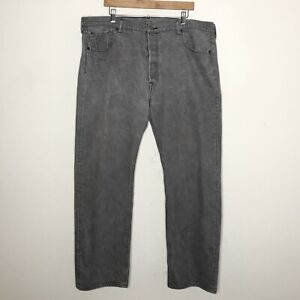 Levi's Mens 501 Jeans Straight Leg Gray Denim 100% Cotton Size 42 x 30