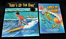 2 Hawaii Bks SURF'S UP FOR KIMO HC 2000 HOW FO' SURF wit' Palaka Joe 1995 Pidgin