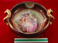 ROYAL VIENNA Gold Gilt Center Bowl Austria Beehive Mark Classical Scene