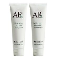 Nu Skin Authentic 2 Tubes AP-24 Whitening Fluoride Toothpaste  EXP. 3/2020- NEW