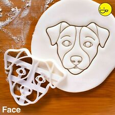 Jack Russell Terrier's Face cookie cutter | terrier fox dogs dog treats biscuit