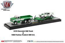 M2 Machines Auto Hauler TW03 1970 Chevrolet C60 Truck and 1968 Pontiac Sprite