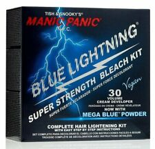 Manic Panic Blue Lightning Mega Blue Powder 30 Volume Cream Developer Super...