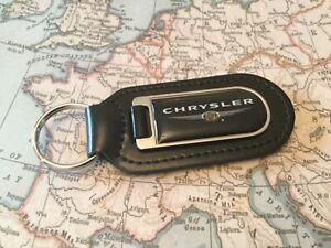 CHRYSLER  PRINTED Quality Real Leather Keyrings CROSSFIRE PT CRUISER 300 BLACK 1