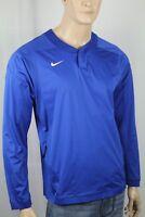 Nike Royal Blue Vapor Long Sleeve Baseball Wind Shirt NWT 808188