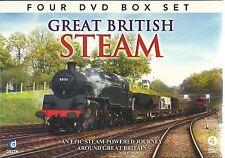 GREAT BRITISH STEAM - 4 DVD BOX SET - STEAM POWERED JOURNEY AROUND GREAT BRITAIN